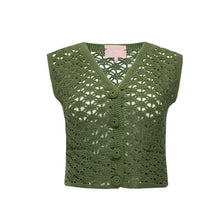 Load image into Gallery viewer, Knitted Vest/Short Set