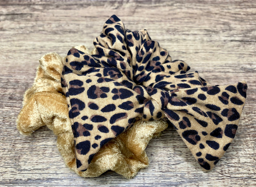 Cheetah Print with Gold Bowchie