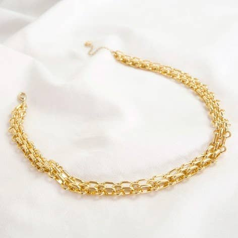 Luxe Close Link Chain Gold Necklace