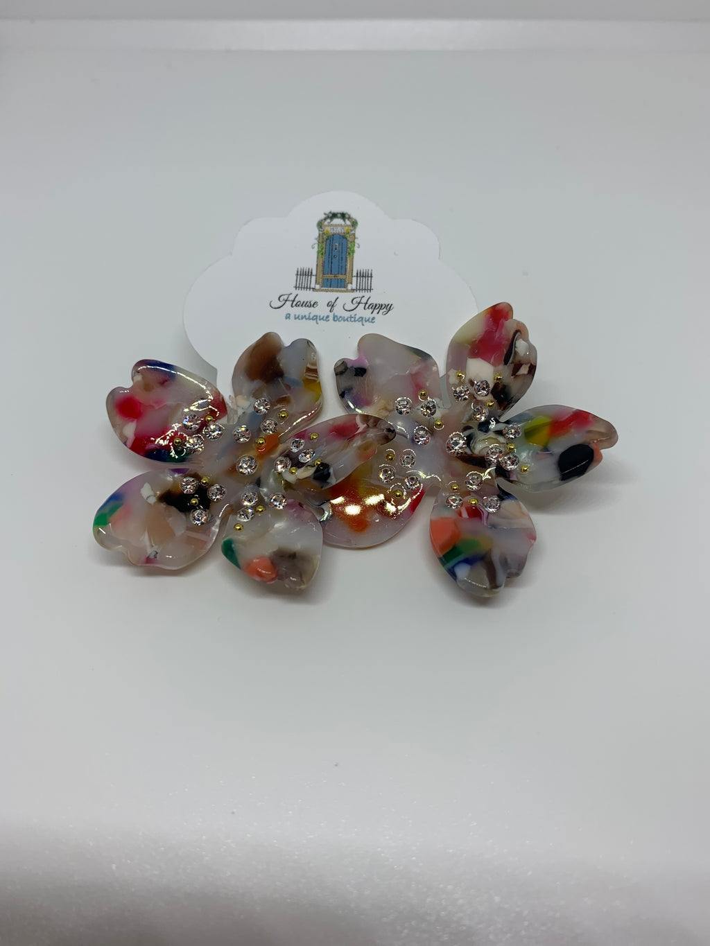 Multi Colored Acrylic Earring