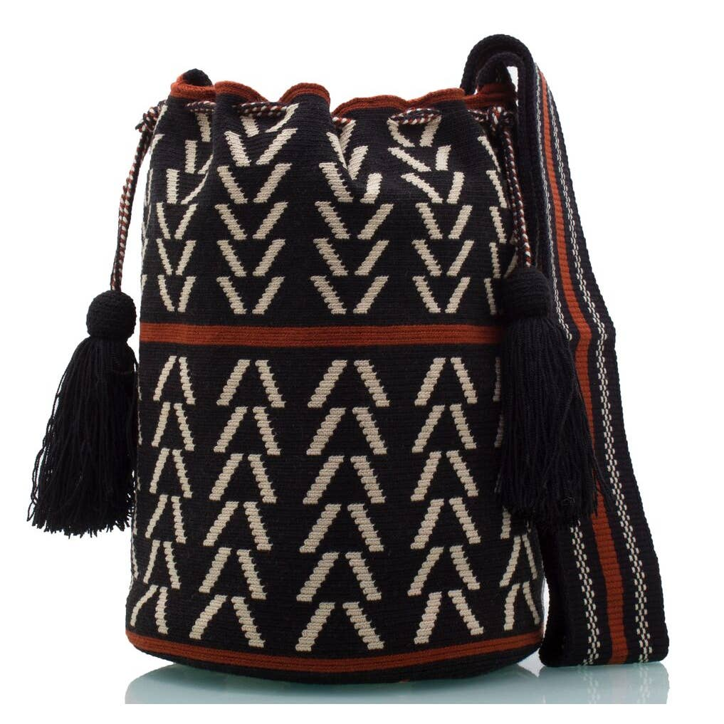 Wayuu Black Mochila Crossbody Bag