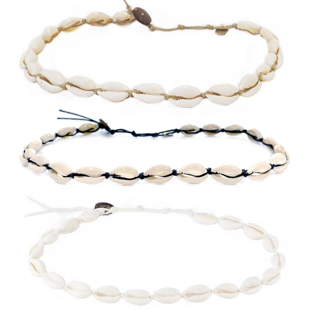 Cowrie Shell Choker or Double Wrap Bracelet