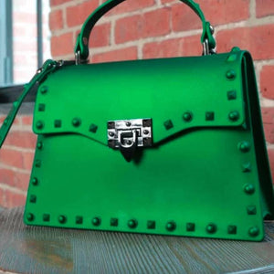 Vegan Green Messenger Bag