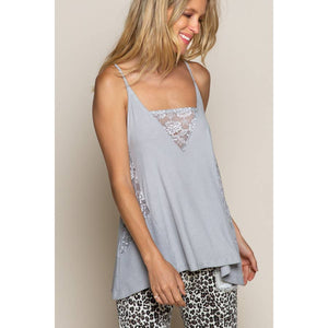 Grey Lace Breezy Tank
