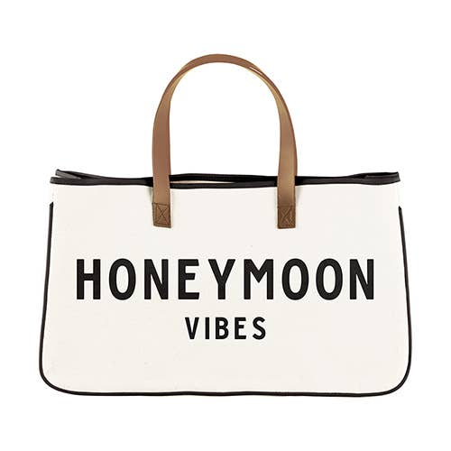 Honeymoon Vibes Canvas Tote Bag