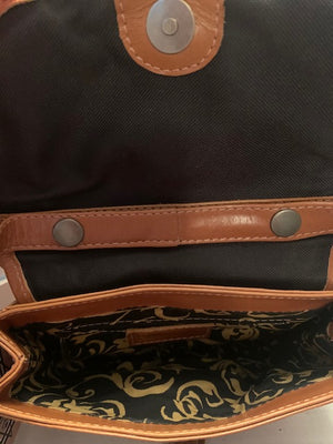 Natural Leather Saddle Bag