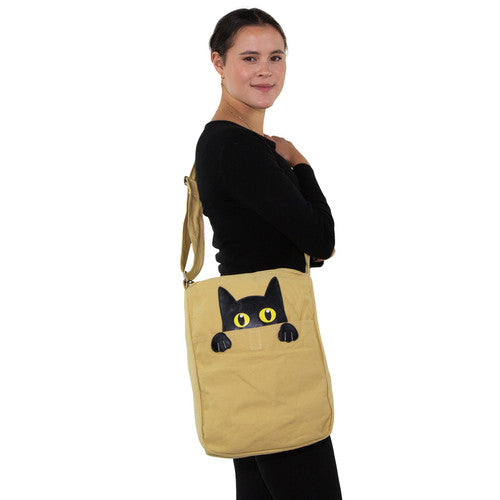 Peeking Cat Messenger Bag