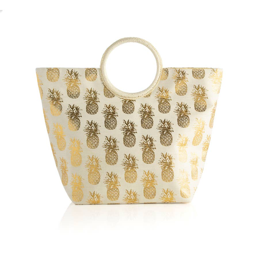 Gold Pineapple Tote