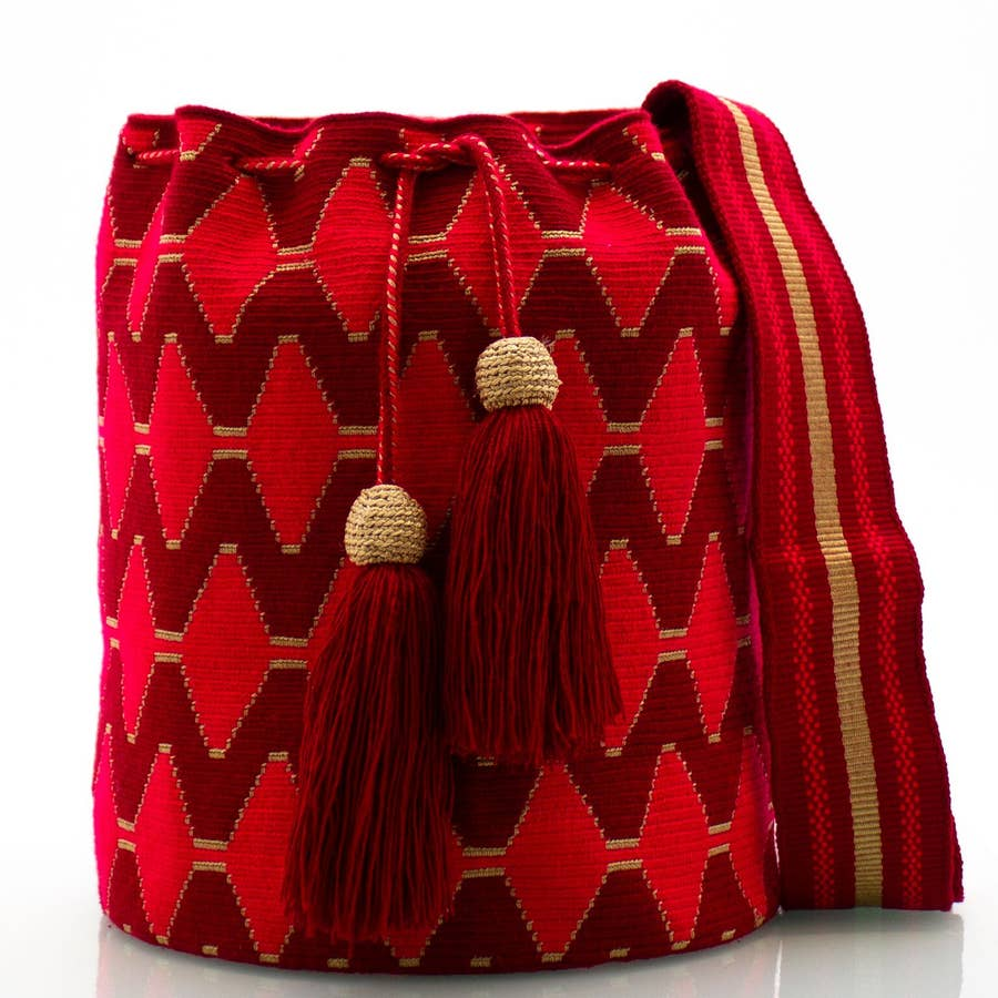 Wayuu Mochila Essential Crossbody Bucket Bag
