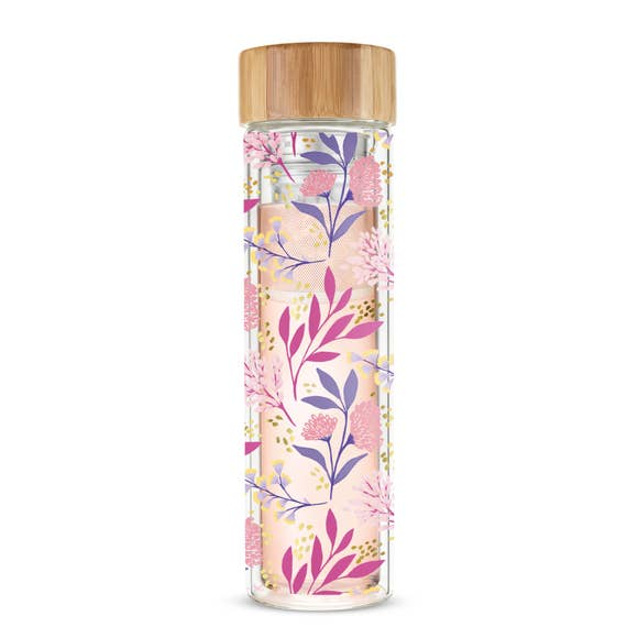 Blair Botanical Bliss Glass Travel Infuser Mug by Pinky Up