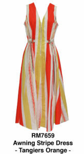 AWNING STRIPE DRESS