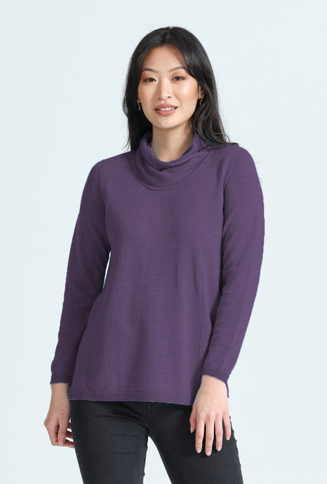 Relaxed Fit Wrap Neck Jumper