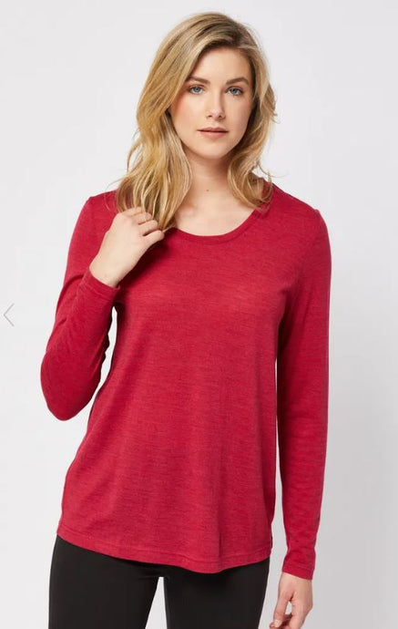 SCOOPED HEM MERINO TOP