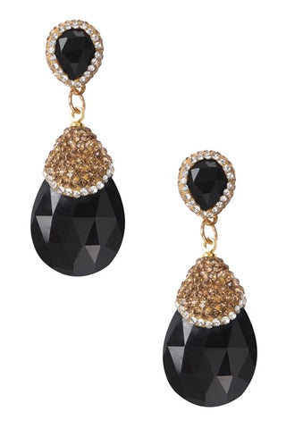 Black & shine earings