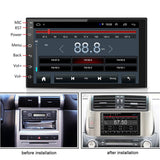 7 '' 2 DIN Android 8.1 Touch WiFi Bil GPS Bluetooth Stereo Radio MP5 FM - Lifafa Denmark