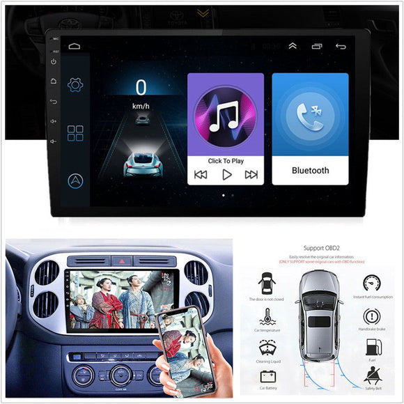 Android Ultra Thin 9'' 2 Din 1080P Car Stereo Radio GPS BT WiFi 4G - Lifafa Denmark