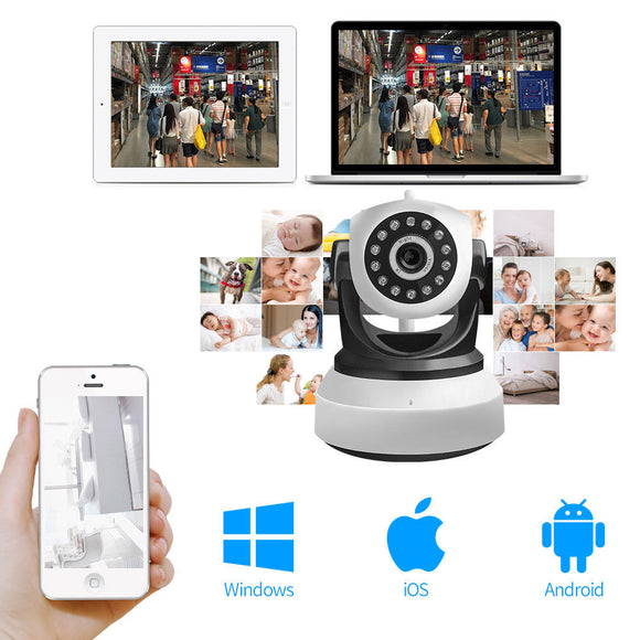 Wireless WIFI CCTV IP Camera Night Vision Pan Tilt 720P Security Network Webcam - Lifafa Denmark