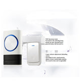 Wireless Smart Doorbell Home Waterproof Wall Plug-in Door Chime 300m+ 2Receivers White