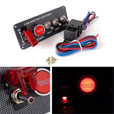 Racing Car 12V Ignition Switch Panel Engine Start Push Button LED Toggle OW - Lifafa Denmark