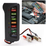 12V Auto Car Digital Battery Tester Diagnostic Tool Alternator 6 LED-lys - Lifafa Denmark