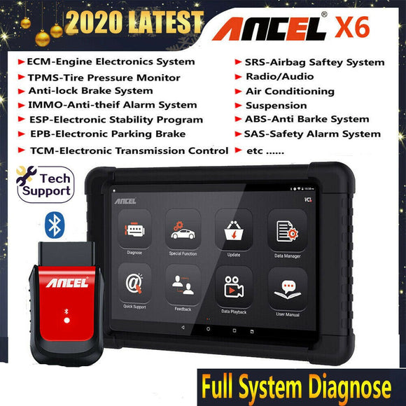 Ancel X6 Bluetooth All System Code Reader Car Diagnostic Tool with 10
