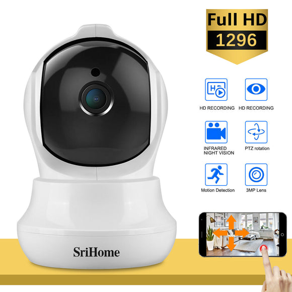 1296P HD Wireless PTZ IP Camera 3MP Home Security CCTV Webcam - Lifafa Denmark