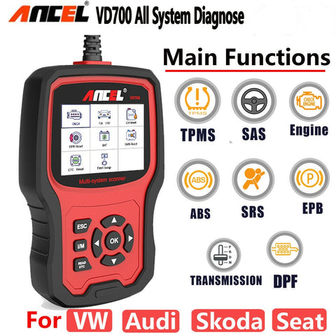 All System OBD2 Scanner DPF EPB TPS Injector Oil Diagnostic Tool for VW Audi Seat Skoda - Lifafa Denmark