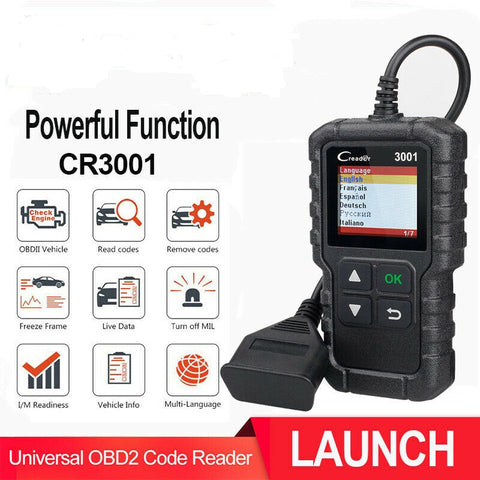 LAUNCH full OBDII , EOBD Auto reader 3001 diagnostic tool - Lifafa Denmark