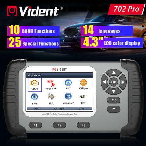 VIDENT iAuto 702 Pro OBD2 Car Diagnostic Scanner Tool for ABS SRS DPF EPB TPMS