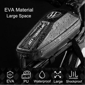 Bicycle Front Frame Triangle Bag Cycling Bike Tube Pouch Holder Saddle Panniers Cykeltaske - Lifafa Denmark