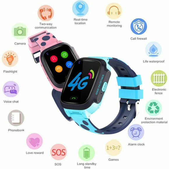 Kids Smart Watch Videoopkald GPS LBS Tracker Phone 4G
