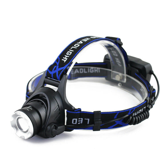 Rechargeable LED Headlamp Headlight Head Lamp Torch Flashlight Waterproof - Lifafa Denmark