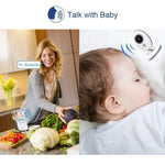 Baby Monitor Trådløs LCD Audio Video Bærbar Baby Camera Walkie Talkie