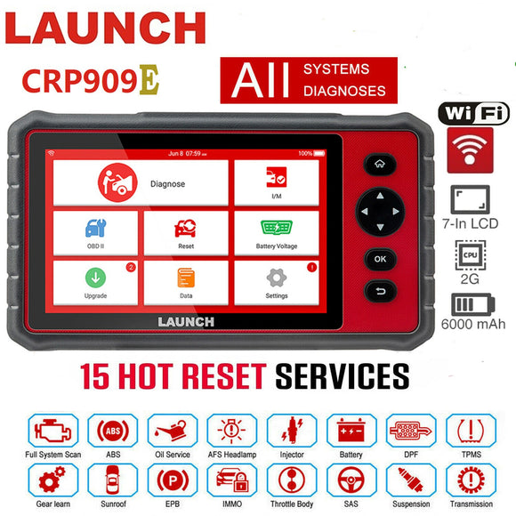 Launch CRP PRO 909X Opgraderet CRP229 Universal Code Reader Car Scanner