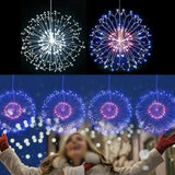 Hængende LED Fairy String Light Christmas Party Xmas 8 Modes Remote