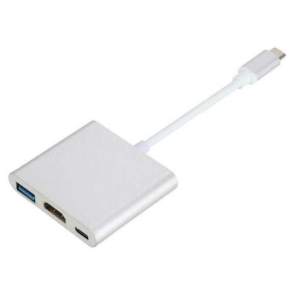 Type C til USB-C 4K HDMI USB 3.0 3 i 1 hub-adapterkabel til Apple Macbook - Lifafa Denmark