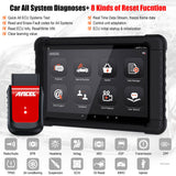 "Ancel X6 Bluetooth All System Code Reader Car Diagnostic Tool with 10"" Tablet OBD2 Scanner"
