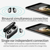 Wireless Bluetooth 5.0 Ear Buds Earphones with Charge Box, Høretelefoner - Lifafa Denmark