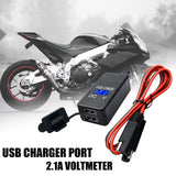 Motorcycle SAE to USB Cable Adaptor Dual USB Port Voltmeter & Cell Phone Charger - Lifafa Denmark