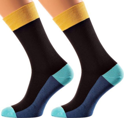 Bangkok Collection - Mercerized Cotton Socks - Crew Length - Sizes M-XL MEN SOCKS SOXESSORY M-L (6-10 MEN SHOE SIZE AND 7.5-11.5 WOMEN) YELLOW | SKY BLUE | OXFORD BLUE | BLACK