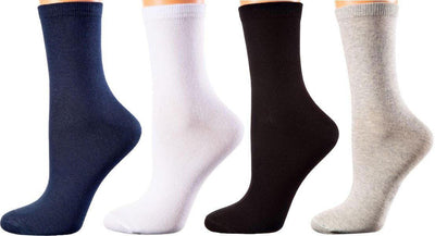 Brussels Collection - Mercerized Cotton Socks - Seamless Toes - Crew Length - Sizes: S-L WOMEN SOCKS SOXESSORY