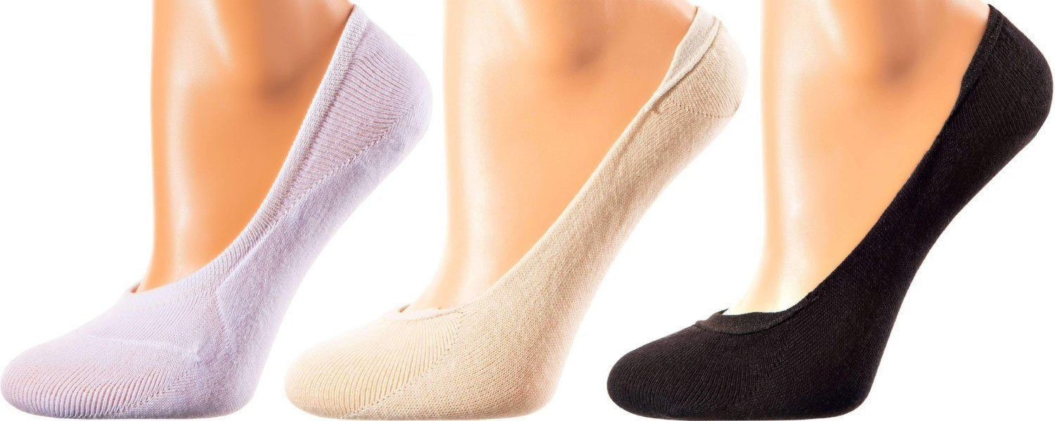 Casablanca Collection - Mercerized Cotton Socks - No Show / Invisible Length - Sizes: S-M