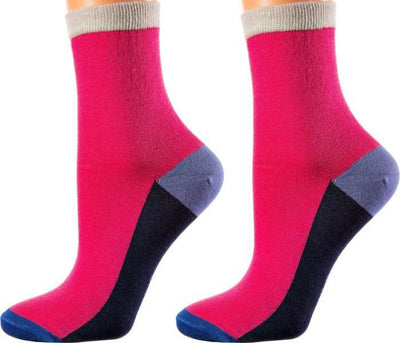 Florence Collection - Mercerized Cotton Socks - Crew Length - Sizes: S-L - SOXESSORY