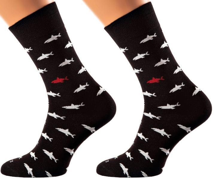 Hurghada Collection - Bamboo Socks - Super Absorbing - Coolest Material You Can Find - Executive (Crew) Length - S-XL Sizes - Shark Print