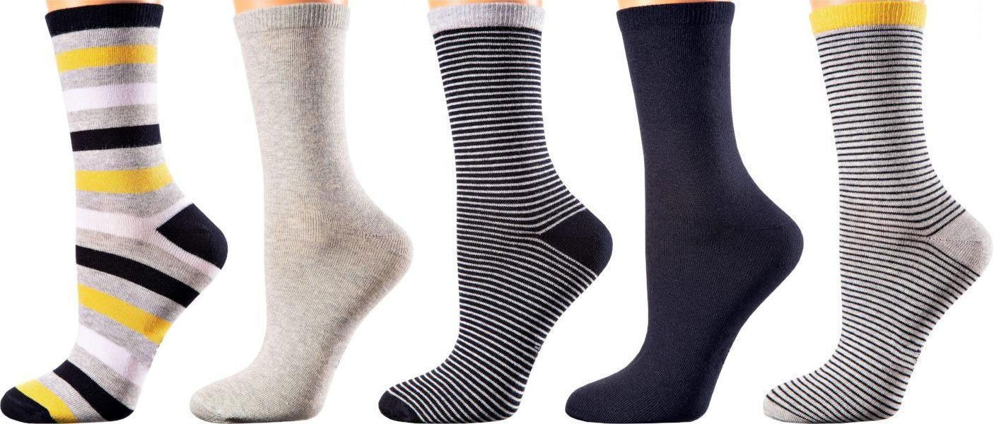 Johannesburg Collection - Mercerized Cotton Socks - Crew Length - Size: S-L