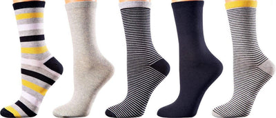 Johannesburg Collection - Mercerized Cotton Socks - Crew Length - Size: S-L WOMEN SOCKS SOXESSORY