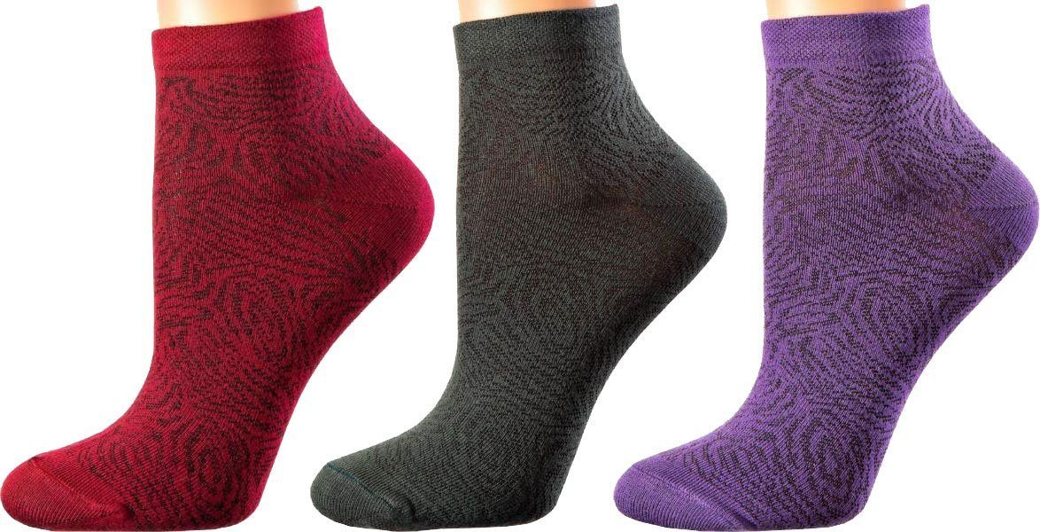 Luxembourg Collection - Mercerized Cotton Socks - Super Breathable Material - Quarter Length - Sizes: S-L