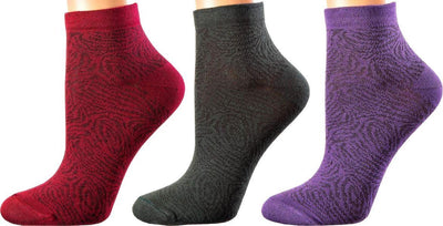 Luxembourg Collection - Mercerized Cotton Socks - Super Breathable Material - Quarter Length - Sizes: S-L WOMEN SOCKS SOXESSORY