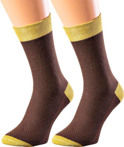 Madagascar Collection - Mercerized Cotton Socks - Crew Length - Waffle Knit - Sizes M-XL - SOXESSORY