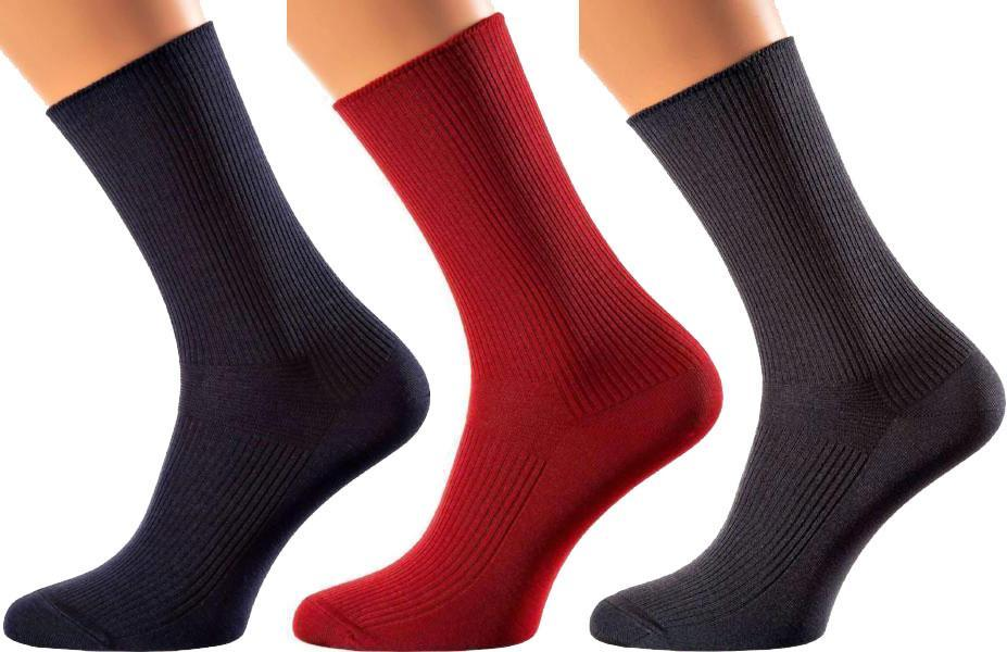 Maldives Collection - Mercerized Cotton Socks - Crew Length - Ribbed Bridge, Rubber Less Calf For More Support and Easier Blood Flow - Sizes M-XL MEN SOCKS SOXESSORY